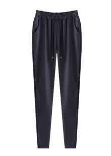 [더산의류](여성) PT963-허리밴딩 핀탁장식 팬츠